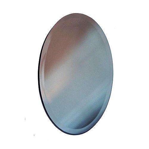 Sans cadre Miroir ovale bord biseauté