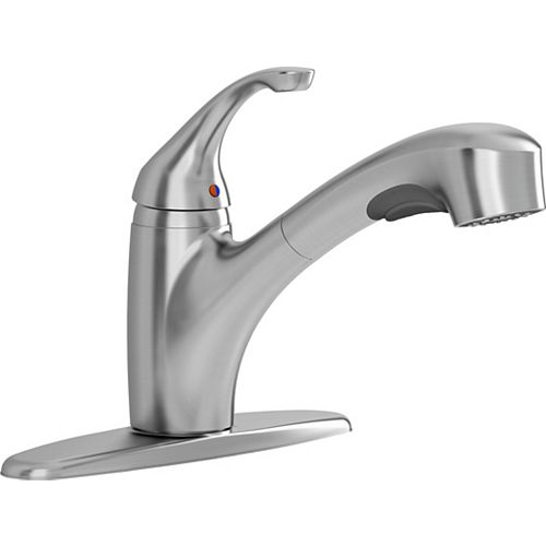 Jardin Single-Handle Pull-Out Sprayer Kitchen Faucet in Stainless Steel