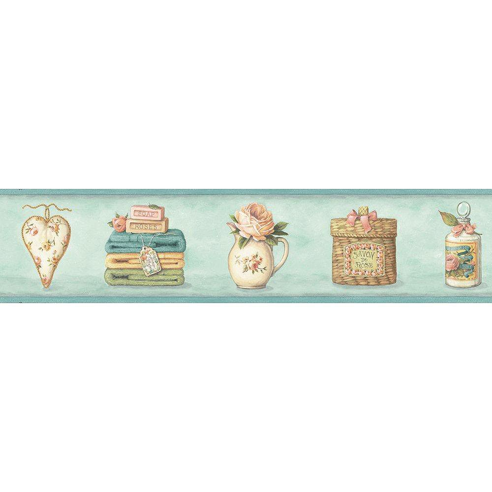 The Wallpaper Company 4.75 In. H Pastel Potpourri & Roses Border