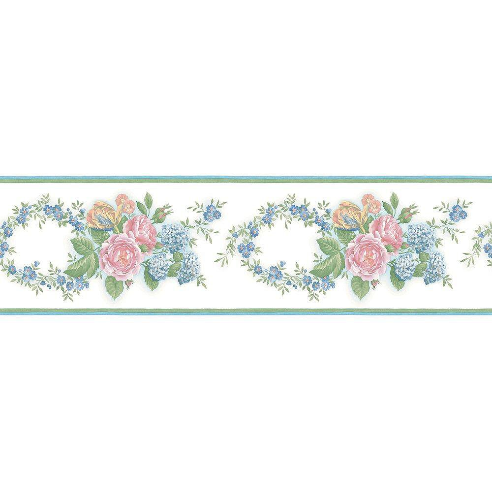 The Wallpaper Company 6 In. H Pastel Floral Trail Border
