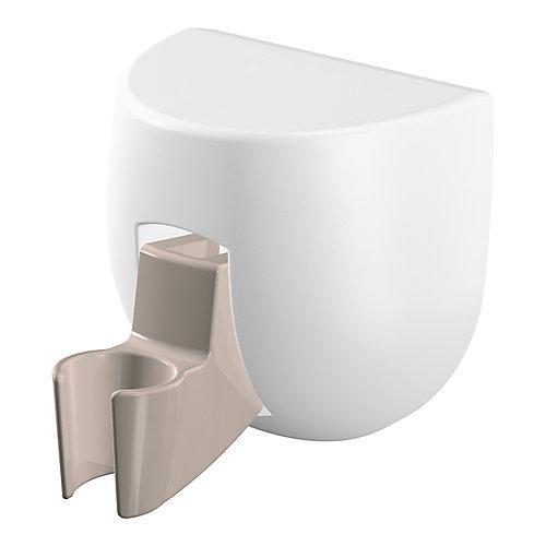 Porte-douche à ventouses - blanc