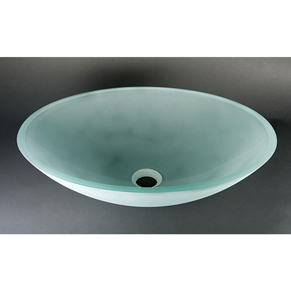 Bionic Oval Frosted Glass Vessel Sink