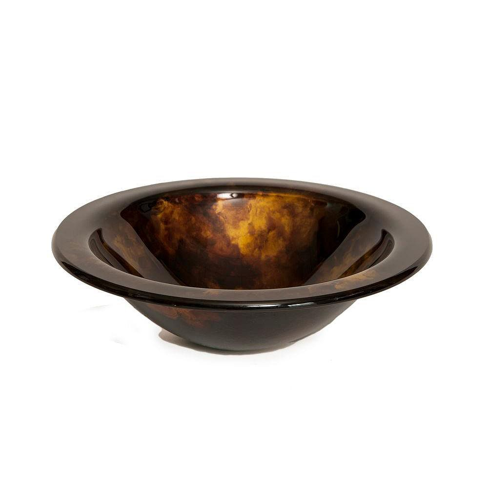 Bionic Designer Glass Sink in Tortoise Shell