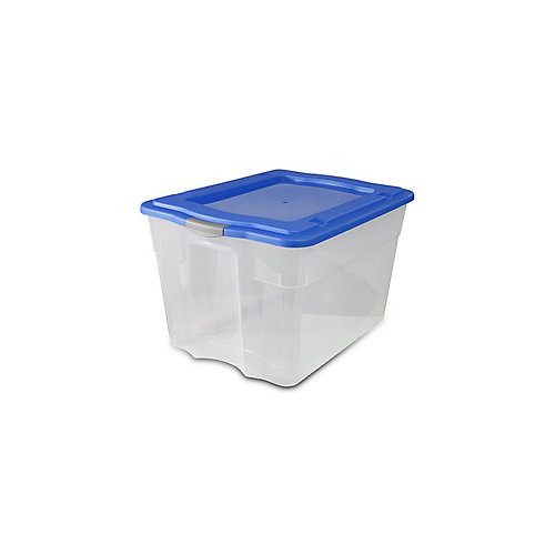 80 Litre Latch Tote - Clear / Solid Lid