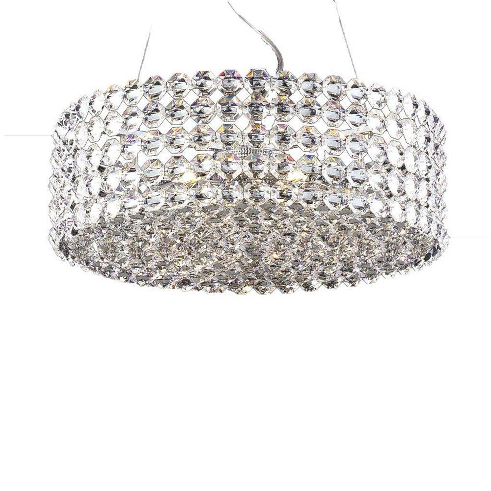 Illumine 6 Light Ceiling Fixture Clear Finish