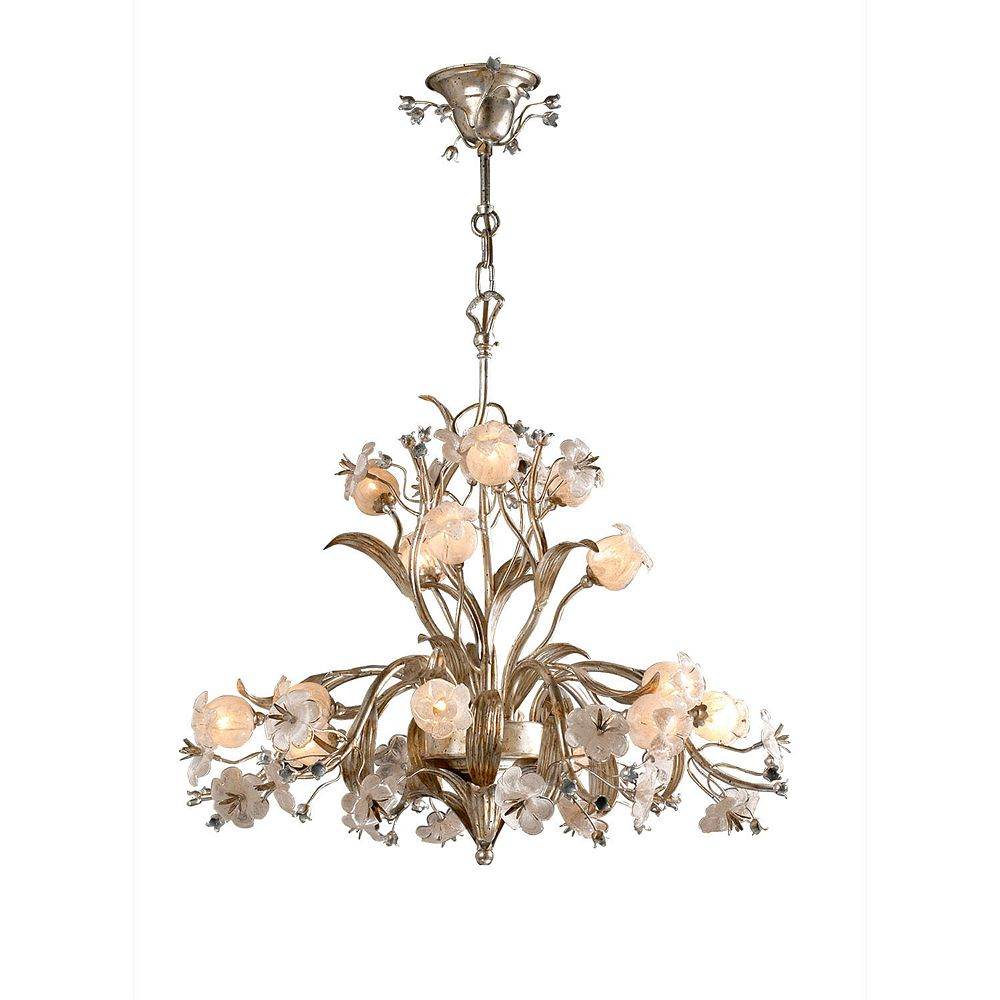 Illumine 15 Light Ceiling Fixture With Flowers