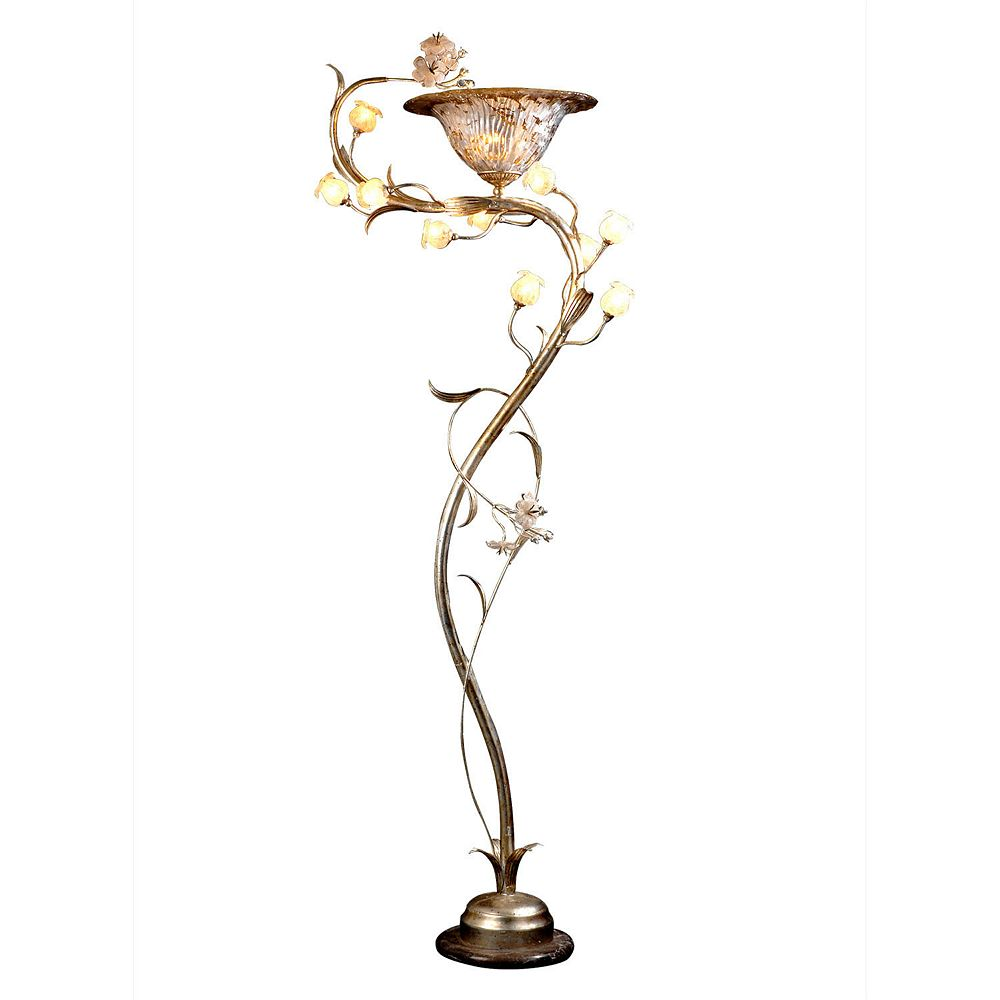 Illumine 11 Light Floor Lamp With Flowers