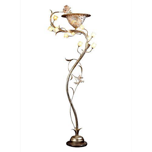11 La Lumière lampadaire avec des Fleurs