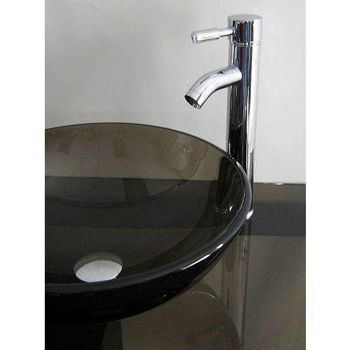 37-Inch W Tea Glass Vanity Top