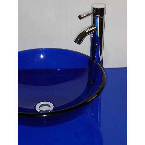 31-Inch W Glass Vanity Top in Cobalt Blue
