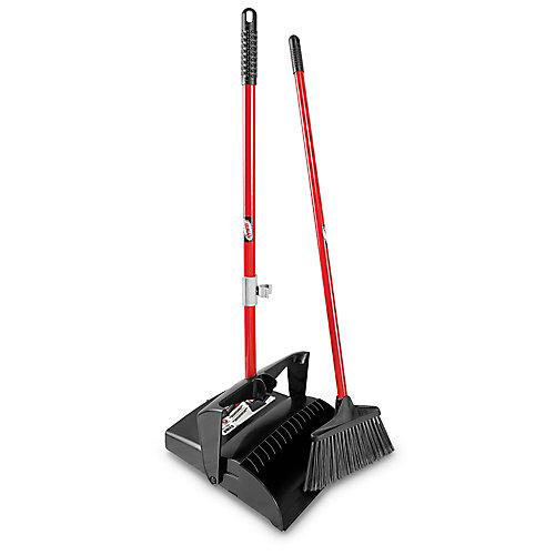 Lobby Broom & Dust Pan (Open Lid)