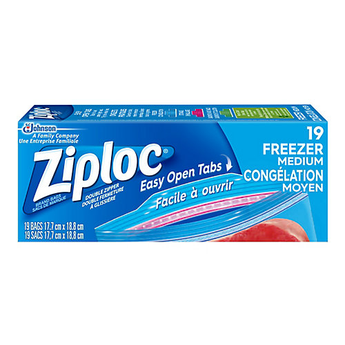 Sacs de Marque Ziploc<sup>®</sup> Congélation Moyen
