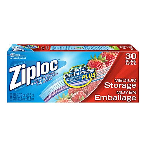 Sacs de Marque Ziploc<sup>®</sup> Emballage Moyen