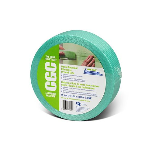 Fiberglass Mould Resistant Drywall Tape, 2 inch x 300 ft Roll
