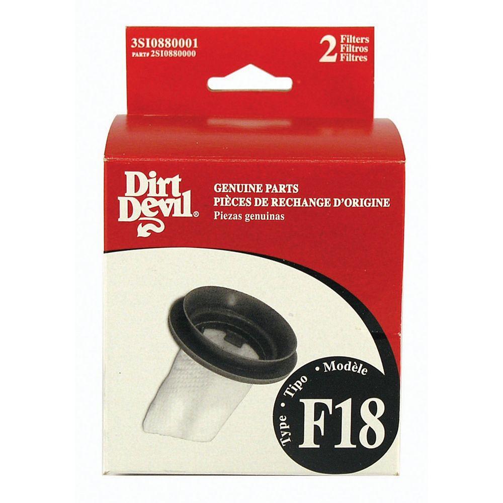 Dirt Devil Filtre standard de type F18