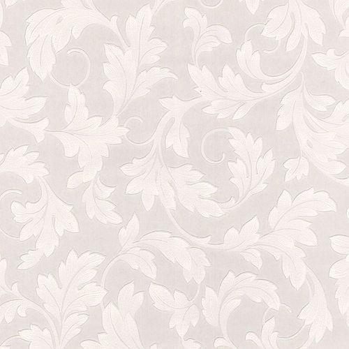 Feuillage Papier Peint Peinturable Blanc