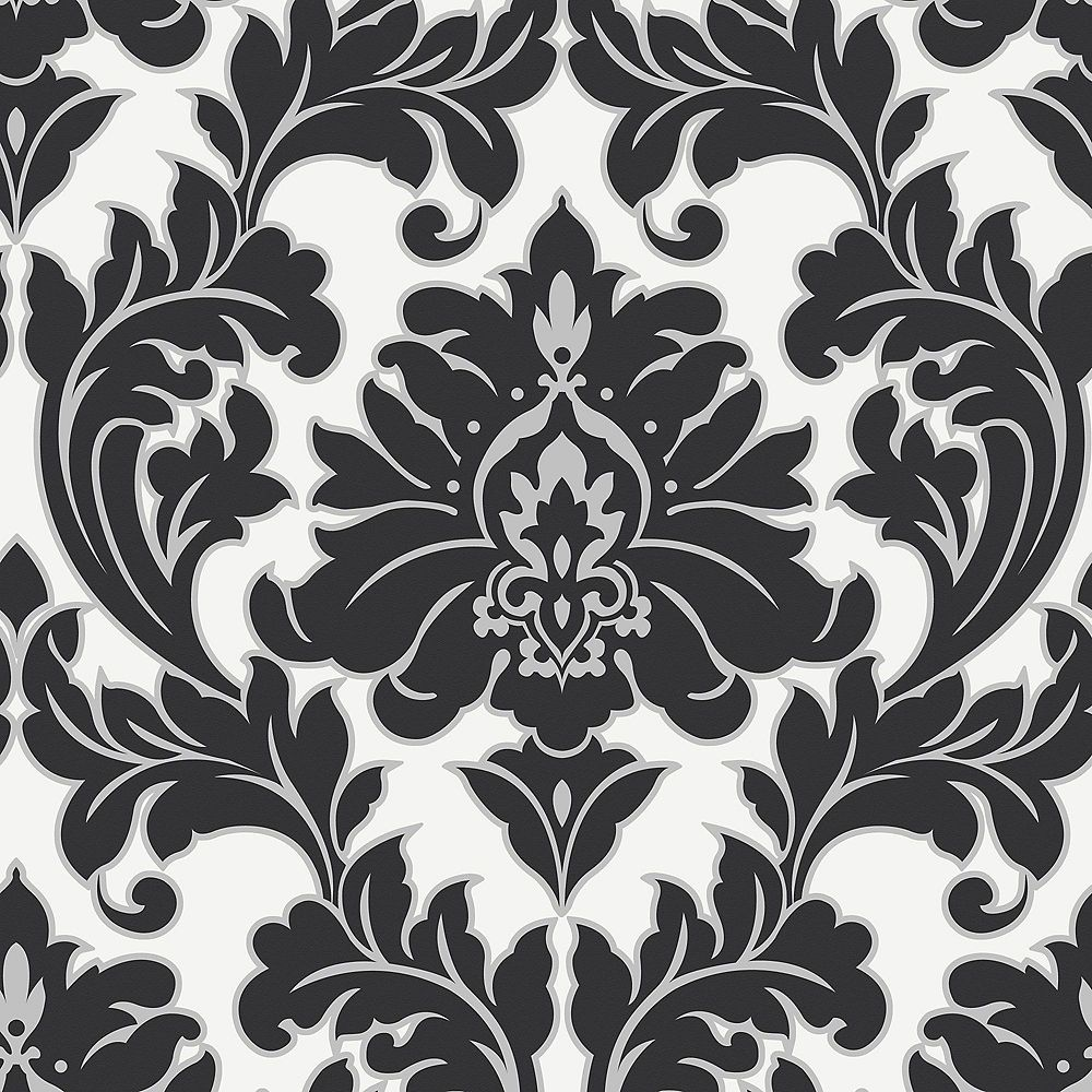 Graham & Brown Majestic Black/White/Silver Wallpaper