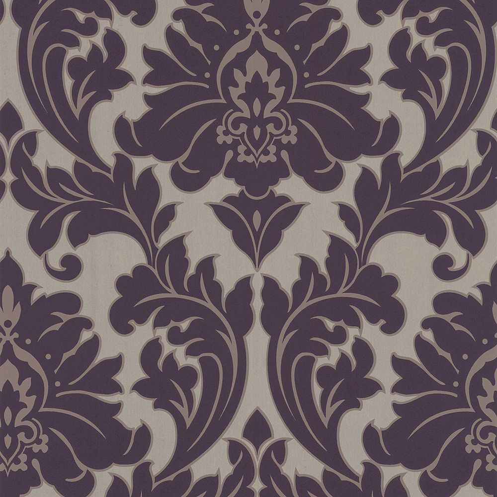 Graham & Brown Majestic Purple/Gold Wallpaper