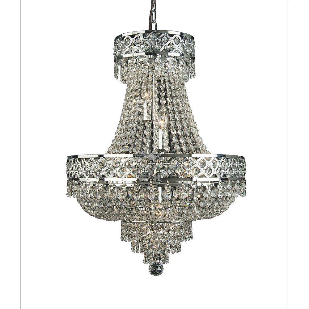 Illumine 8 Light Ceiling Fixture Silver Finish