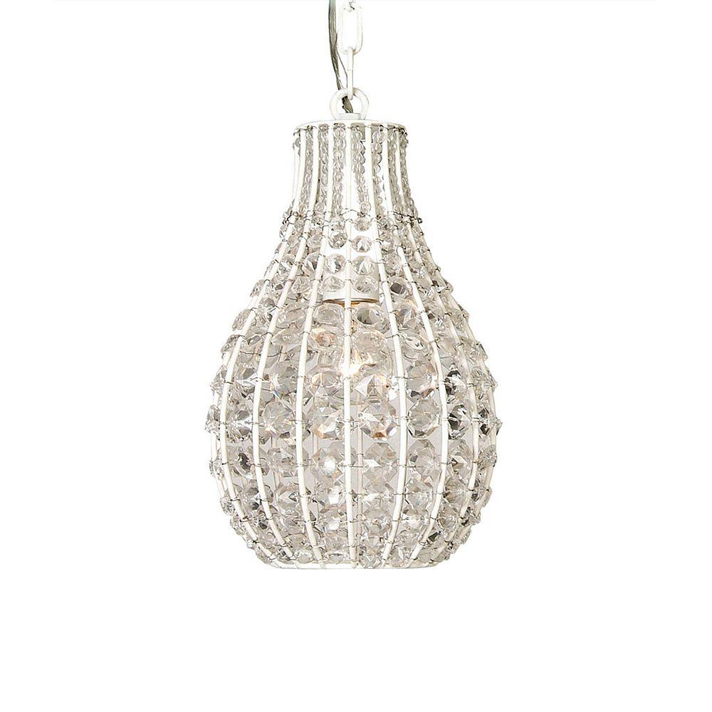 Illumine 1 Light Ceiling Fixture White Finish