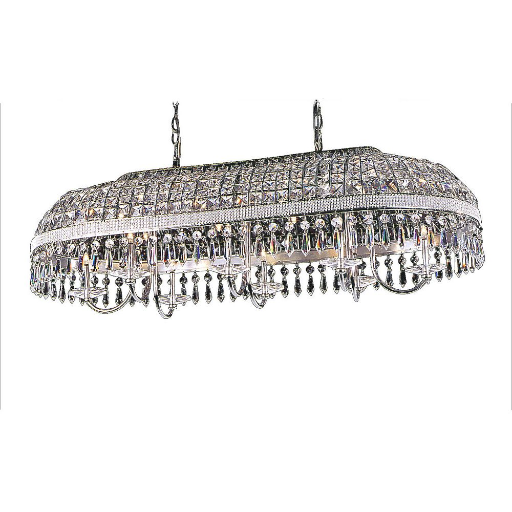 Illumine 16 Light Ceiling Fixture Clear Finish