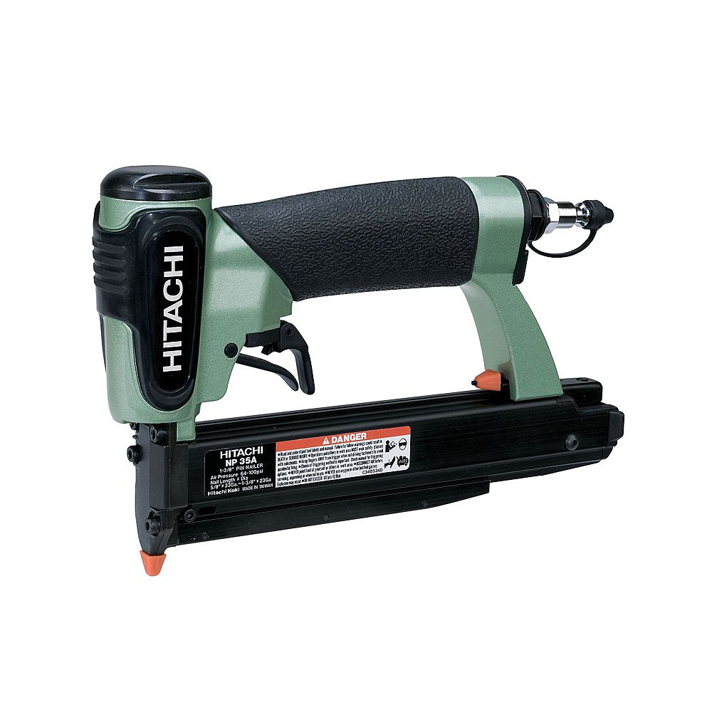 Hitachi Power Tools 1-3/8-Inch 23-Gauge Micro Pin Nailer with Carrying Case, Safety Glasses, Male Plug and Hex Bar Wrench