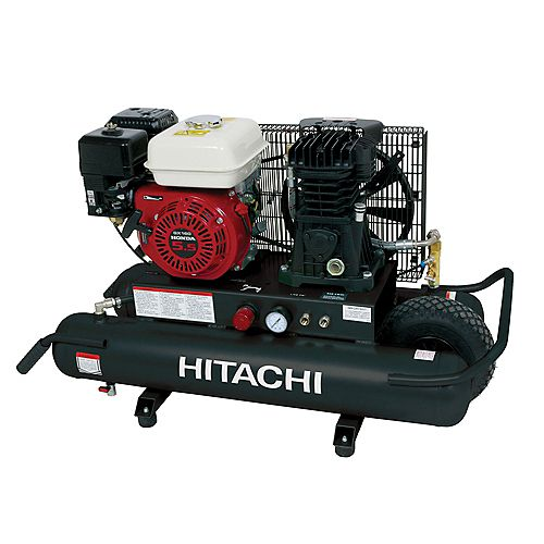5.5-Horsepower 8-Gallon Wheel Barrow Air Compressor with Intake Filters and 8-Ounces of Synthetic Oil