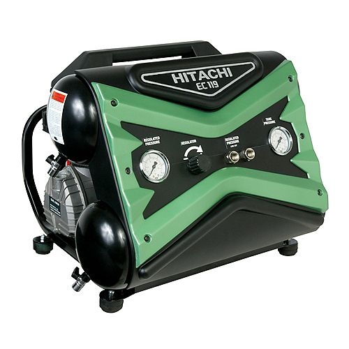 1.6-Horse Power 4-Gallon Side Stack Air Compressor with 8-Ounces of Synthetic Oil and Dipstick