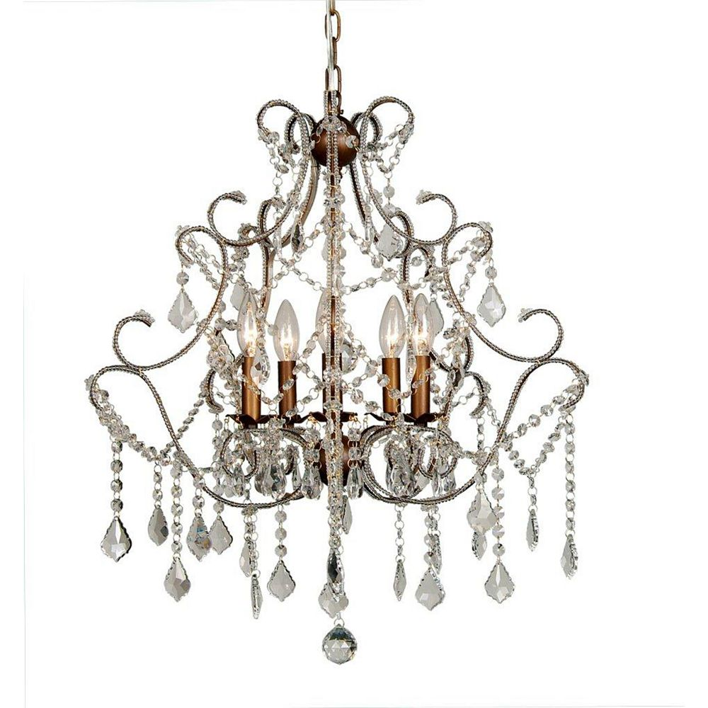 Illumine 5 Light Chandelier Clear Finish