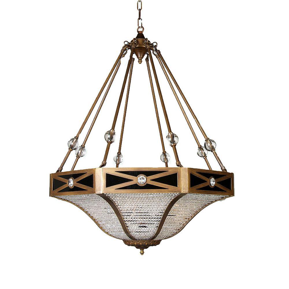 Illumine 5 Light Ceiling Fixture Gold Finish