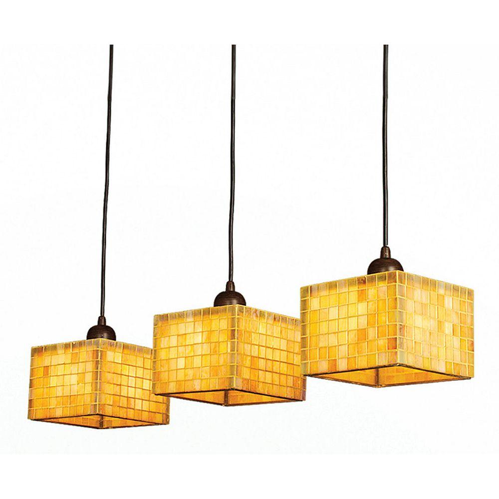 Illumine 3 Light Ceiling Fixture Yellow Finish