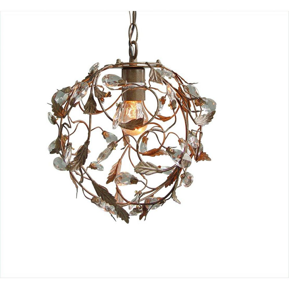 Illumine 1 Light Ceiling Fixture Brown Finish
