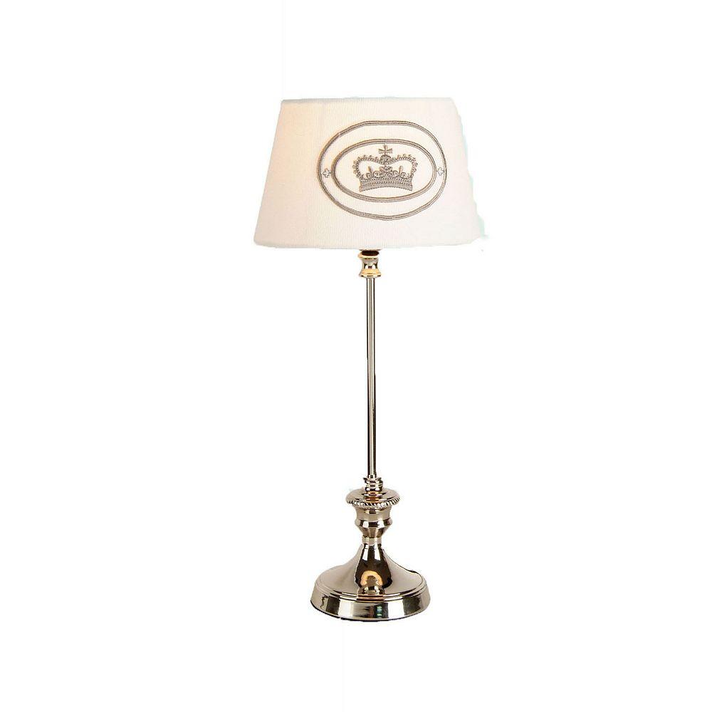 Illumine 1 Light Table Lamp White Finish