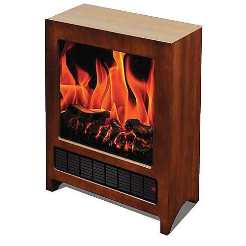 Kingston Wooden Floor Standing Electric Fireplace