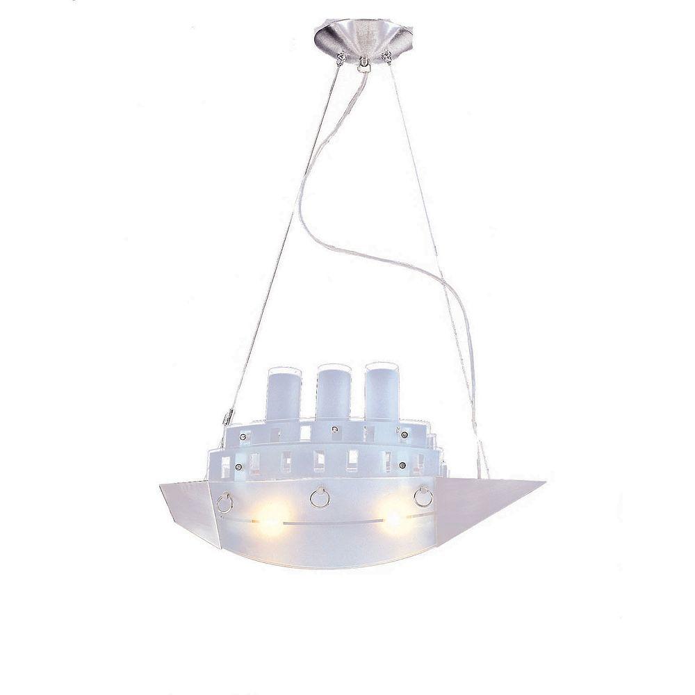 Illumine 2 Light Ceiling Fixture Nickel Finish