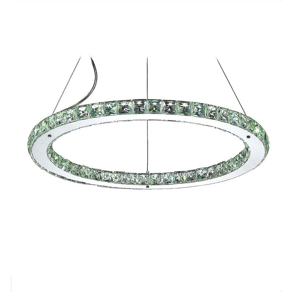 Illumine 9 Light Ceiling Fixture Green Finish