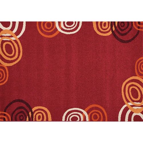 Fiesta Red 7 ft. x 10 ft. Rectangular Area Rug
