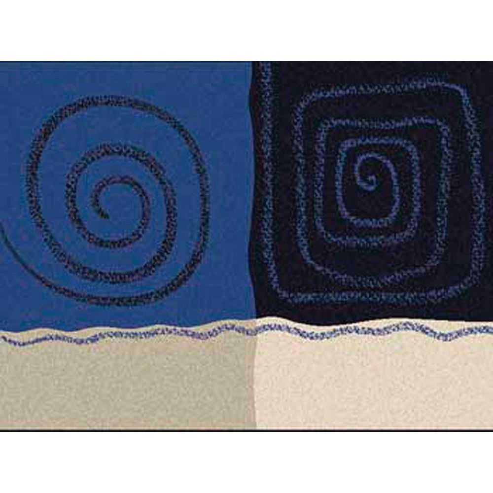 Foreign Accents Fiesta Blue 5 ft. x 7 ft. Rectangular Area Rug