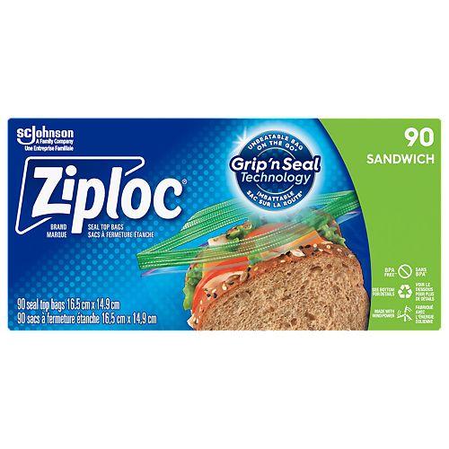Paq. de 90 sacs à sandwich Ziploc