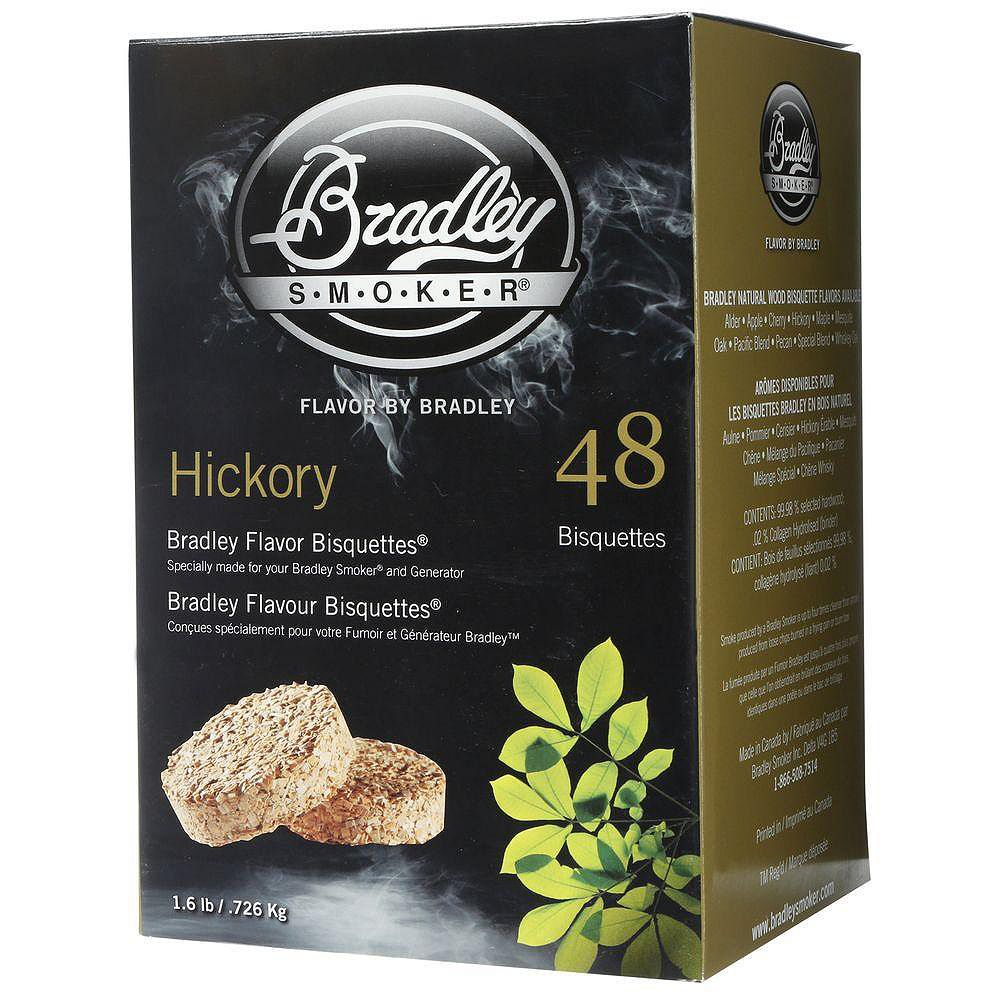 Bradley Smoker Hickory Smoking Bisquettes (48-Pack)