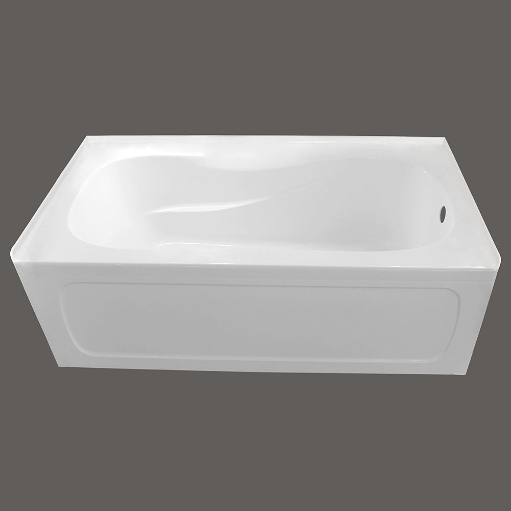 Valley 60-inch x 30-inch Pro Acrylic Right-Hand Drain Skirted Bathtub in White