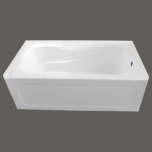 66-inch x 32-inch Pro Acrylic Right-Hand Drain Skirted Bathtub in White