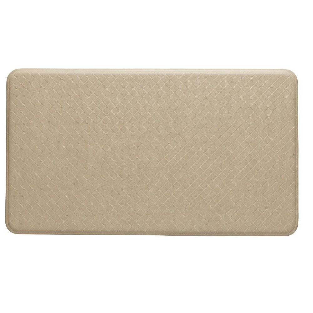 Imprint Comfort Mats Nantucket Series New Standard Cream 1 ft. 8-inch x 3 ft.  Rectangular Door Mat