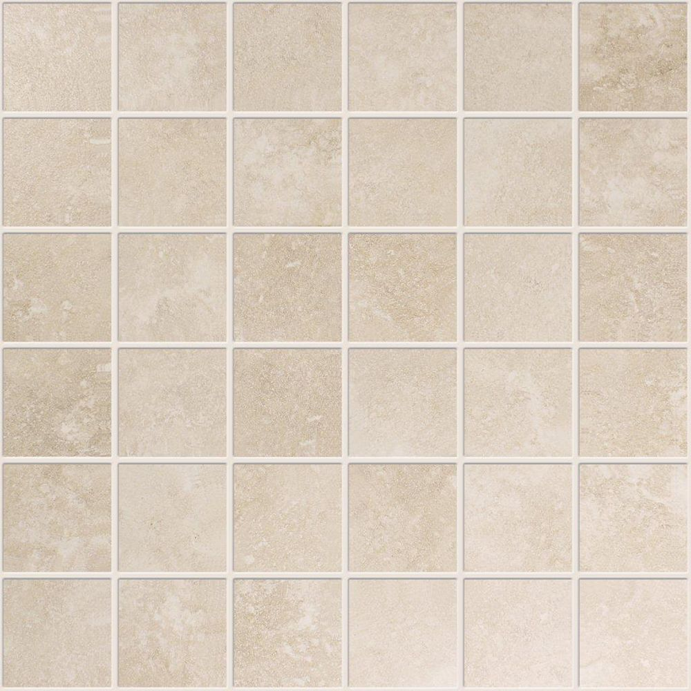 Modamo 2-inch x 2-inch Ceramic Mosaic Tile in Ivory