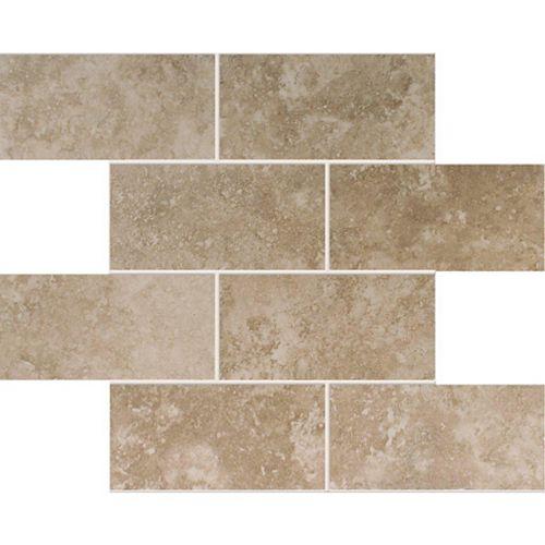 Modamo Mosaïque de carreaux de céramique Noce - 7,62 cm x 15,24 cm (3 po x 6 po)