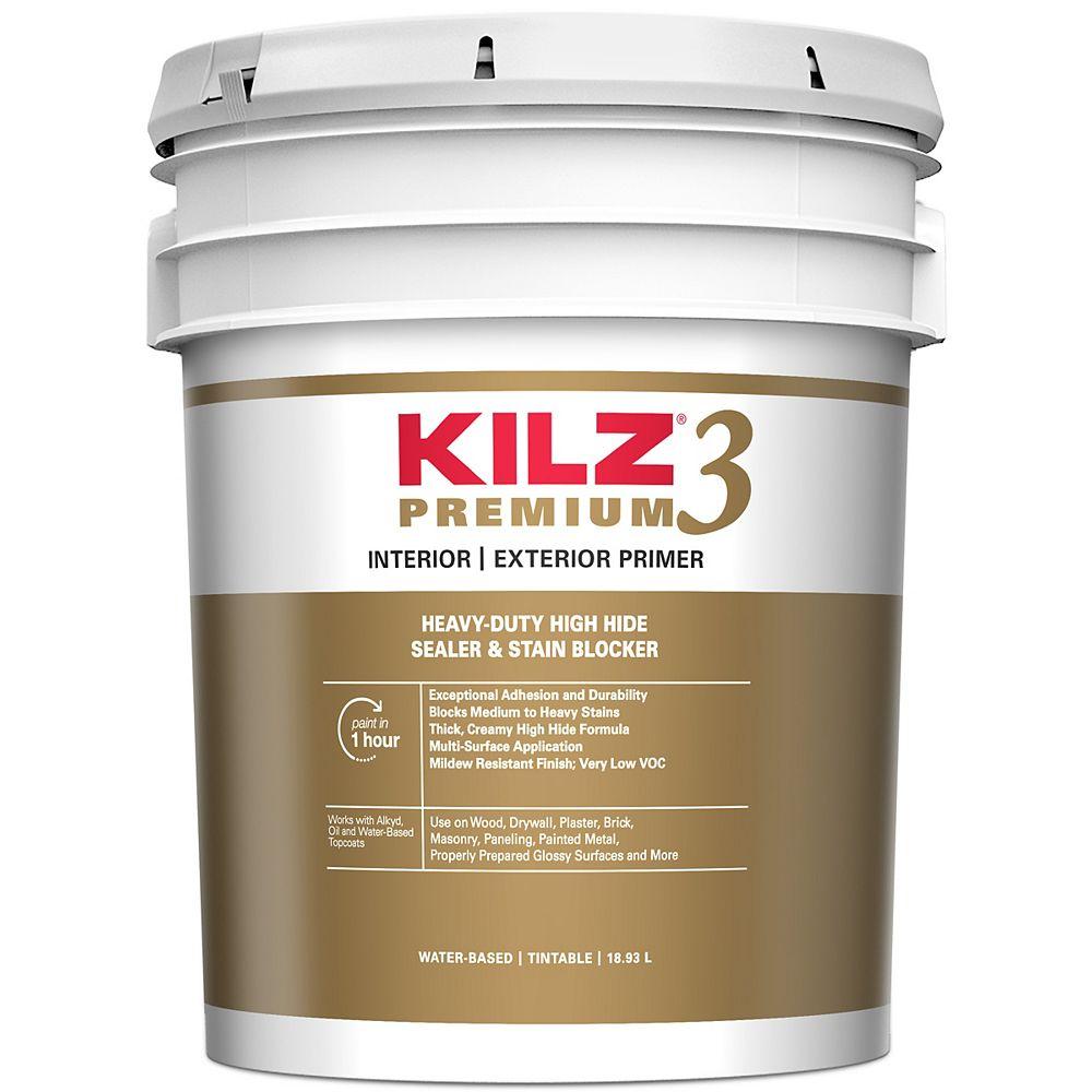 Kilz 3 Premium Interior Exterior Primer 18 9 L The Home Depot Canada