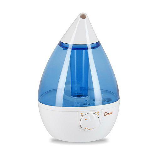 Ultrasonic Cool Mist Humidifier, Blue Drop Shape