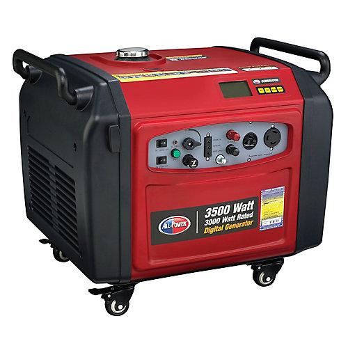 Génératrice à inverseur numérique d'une puissance de 3500 watts - Bouton de démarrage électrique et capacité parallèle