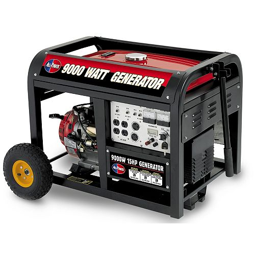 9000 Watt Peak 15HP Generator with Mobility Kit