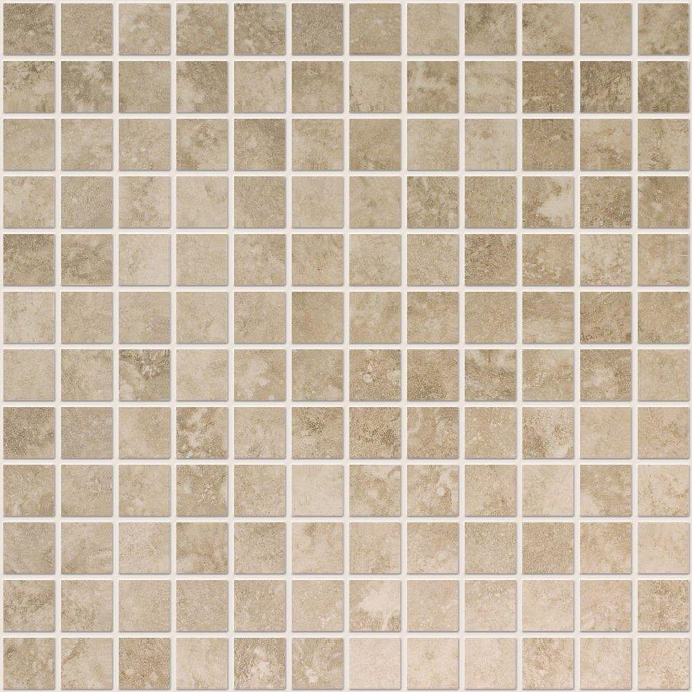 Modamo Noce Ceramic 1-inch x 1-inch Mosaic Tile